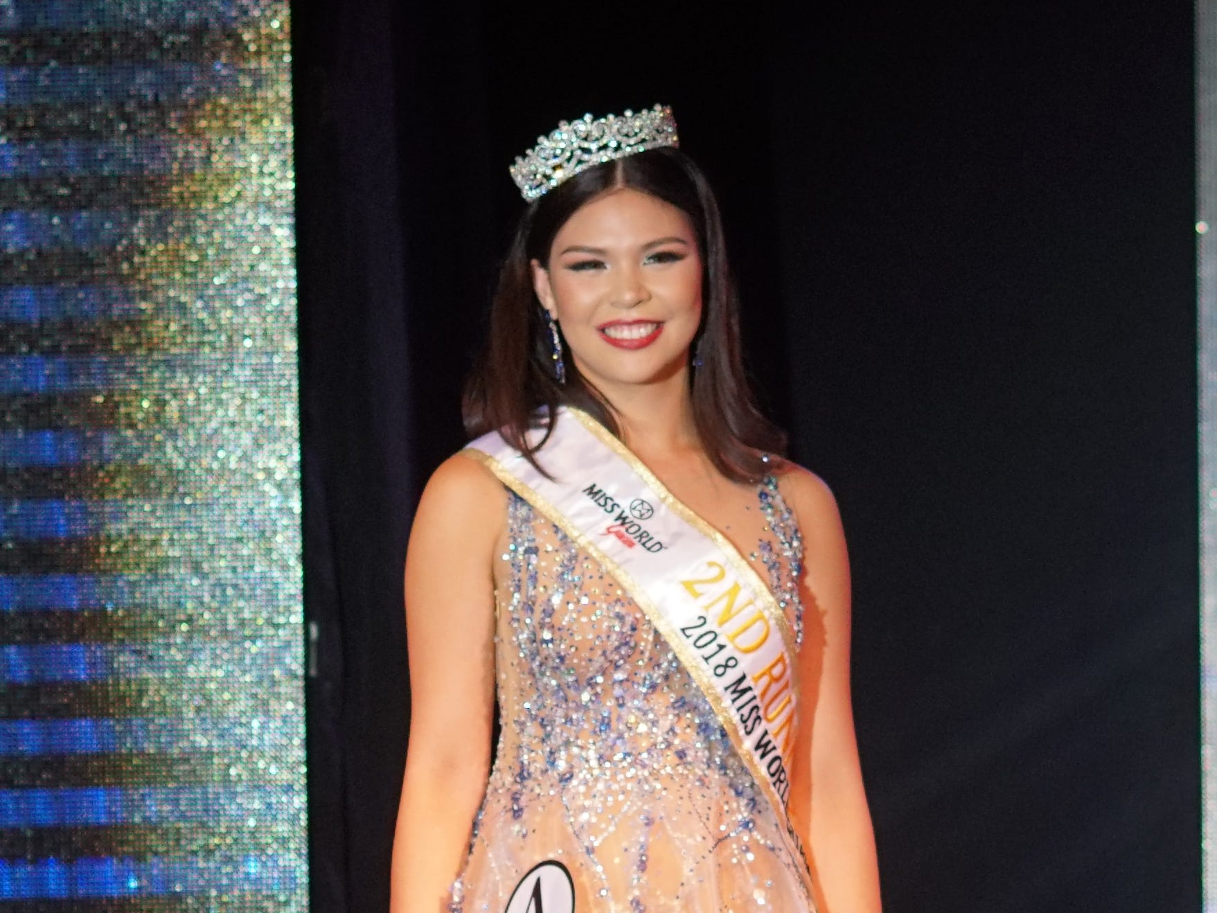 2nd Runner up in the 2018 Miss World Guam pageant held at Sheraton Laguna Guam Resort is Contestant #4 Mariana Quintanilla Kier, 18, of Sinajana.