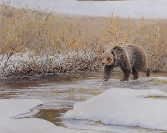 """Spring Thaw"" by Debra Trent is part of the Kentucky National Wildlife Art Exhibition."