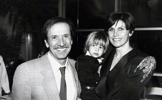 Sonny Bono appears with his son, Chesare, and wife, Mary Bono in this early 1990s photo.