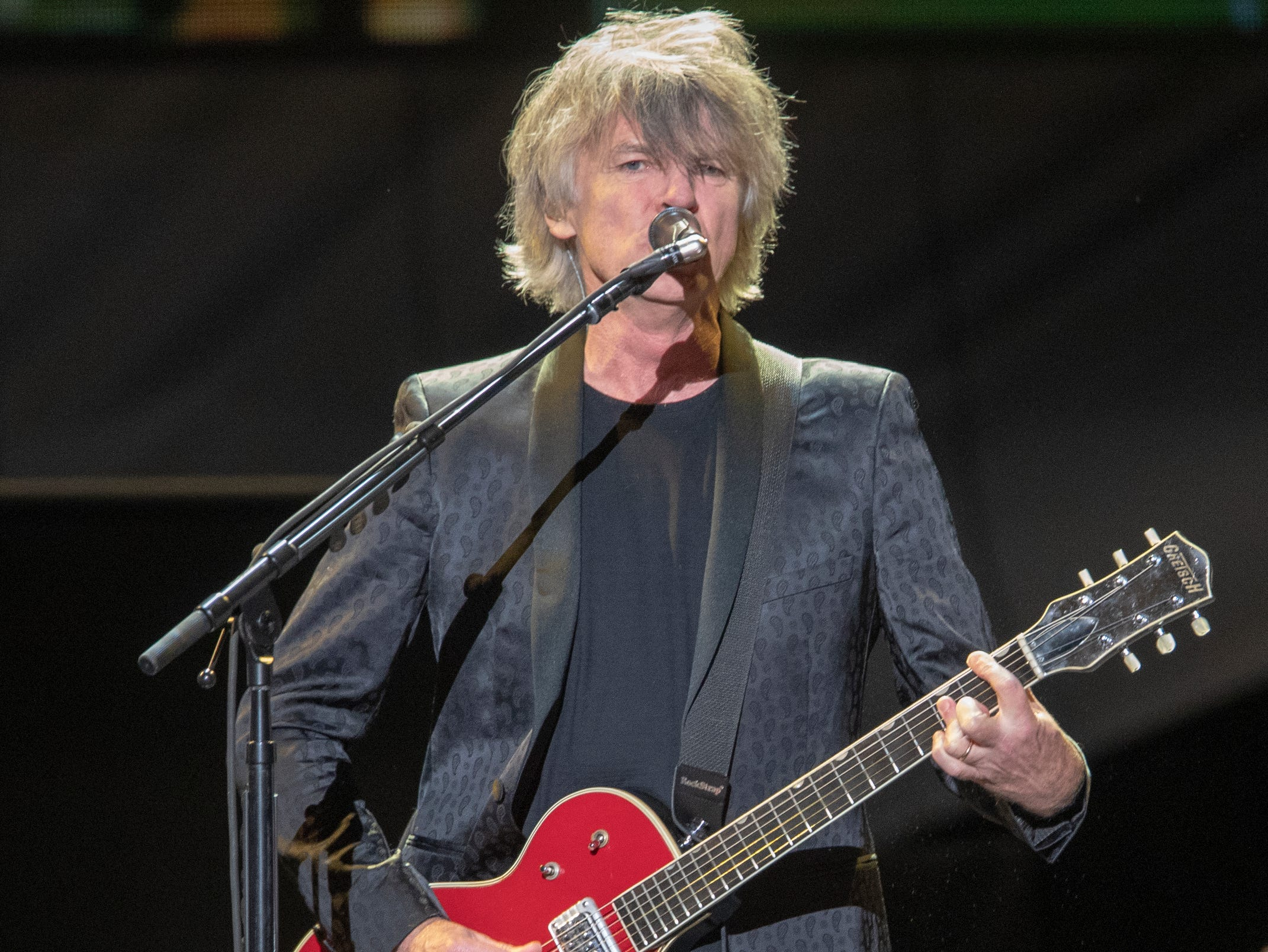 Neil Finn, during a performance by Fleetwood Mac at Bankers Life Fieldhouse, Indianapolis, Tuesday, Oct. 16, 2018. The band is playing on their current North American tour.