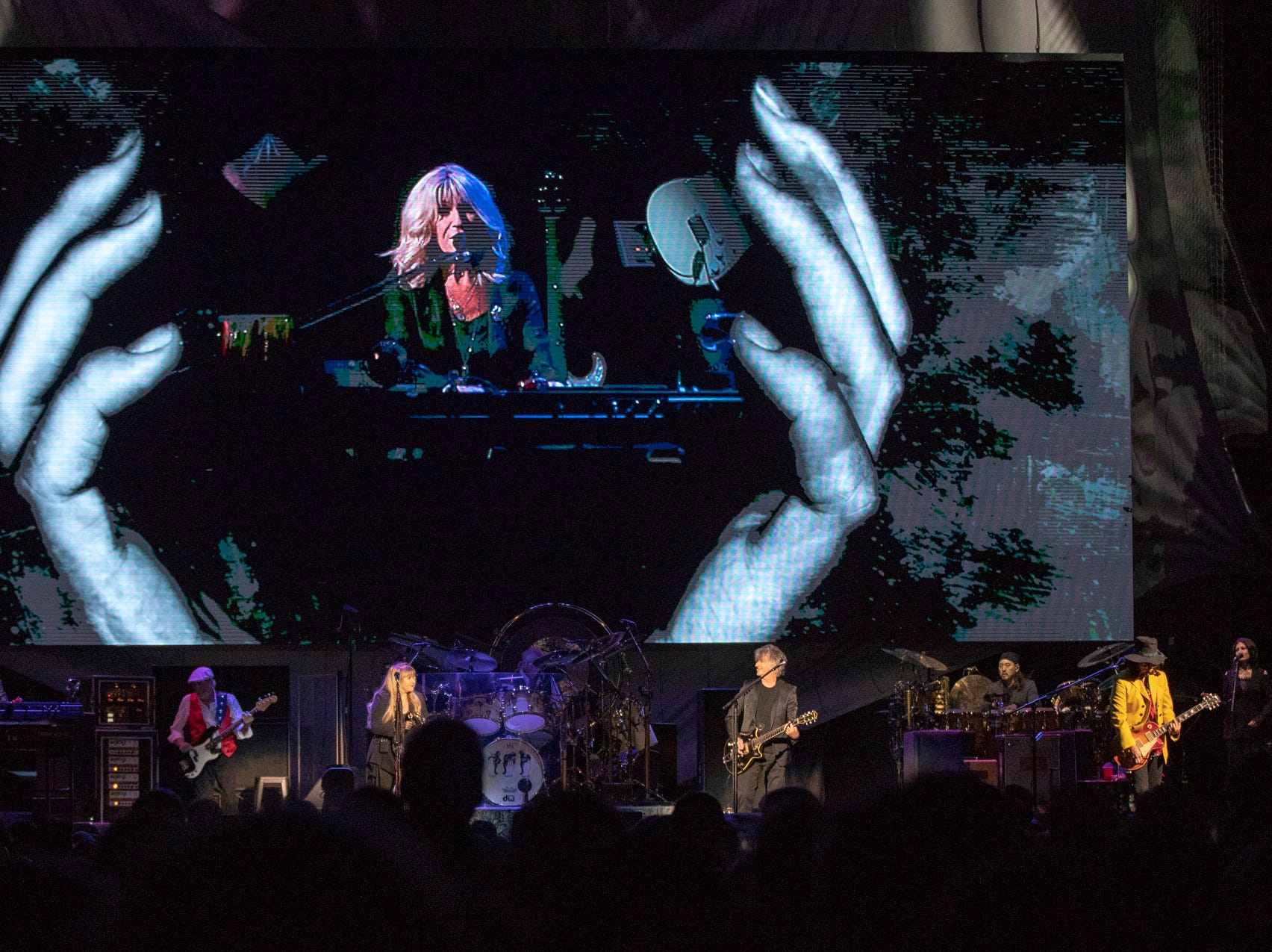 A performance by Fleetwood Mac at Bankers Life Fieldhouse, Indianapolis, Tuesday, Oct. 16, 2018. The band is playing on their current North American tour.