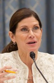 Former Coachella Valley Congresswoman Mary Bono resigned Tuesday as was interim CEO and president of USA Gymnastics. She had been named to the post just last Friday.