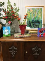 Gina Diamond's Flower Co. showcases original artwork along with gifts.