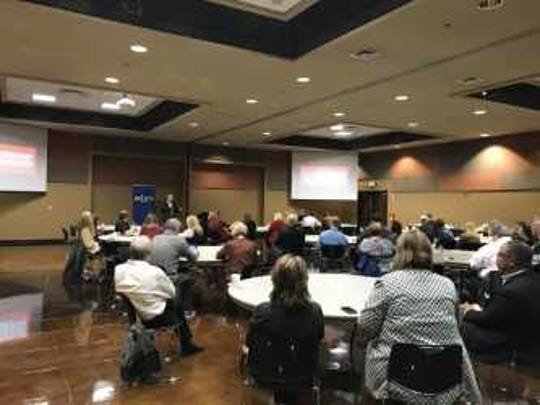 The Jackson Chamber of Commerce host the Sycamore Institute. The institute presented economic, health and education data on Madison County.