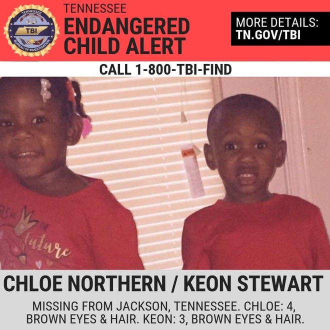 Khloe Northern, 3, and Keon Stewart, 2, were missing following the murder of their mother Wednesday morning. Police found them safe in Chattanooga after a standoff with their father Keon Stewart.