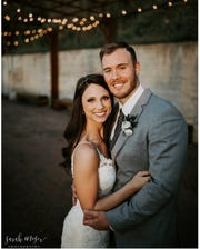 Grace Mears, owner of Makeup by Grace Mears, did Elizabeth Flick's makeup for her wedding ceremony with Ryan Flick.