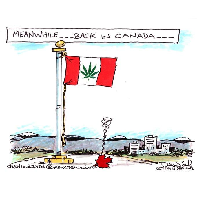 Charlie Daniel editorial cartoon for Thursday, Oct. 18, 2018.