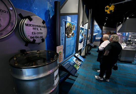 Visitors enjoy the interactive exhibits at the new American Museum of Science and Energy at their new location on Main Street in Oak Ridge.