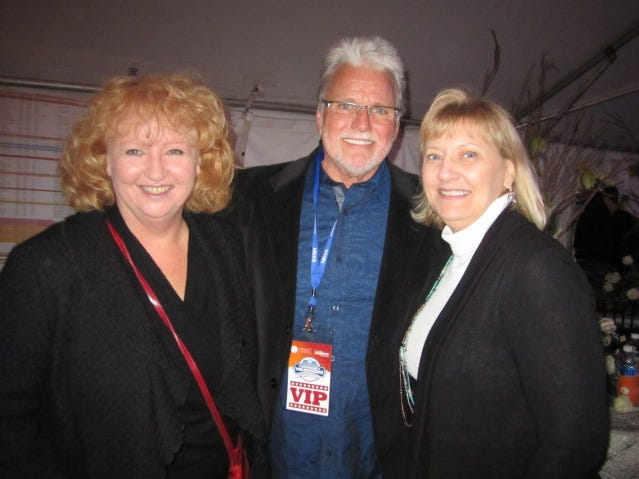 "Sheena McCall, Con Hunley, Ann Brookshire, from left, attended a fundraiser to help the Watson family pay off the mortgage on the home that was razed during the ""Extreme Makeover: Home Edition: project."