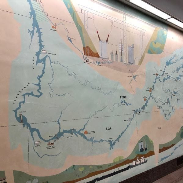Hidden Knoxville native's mural found, restored in Norris Dam