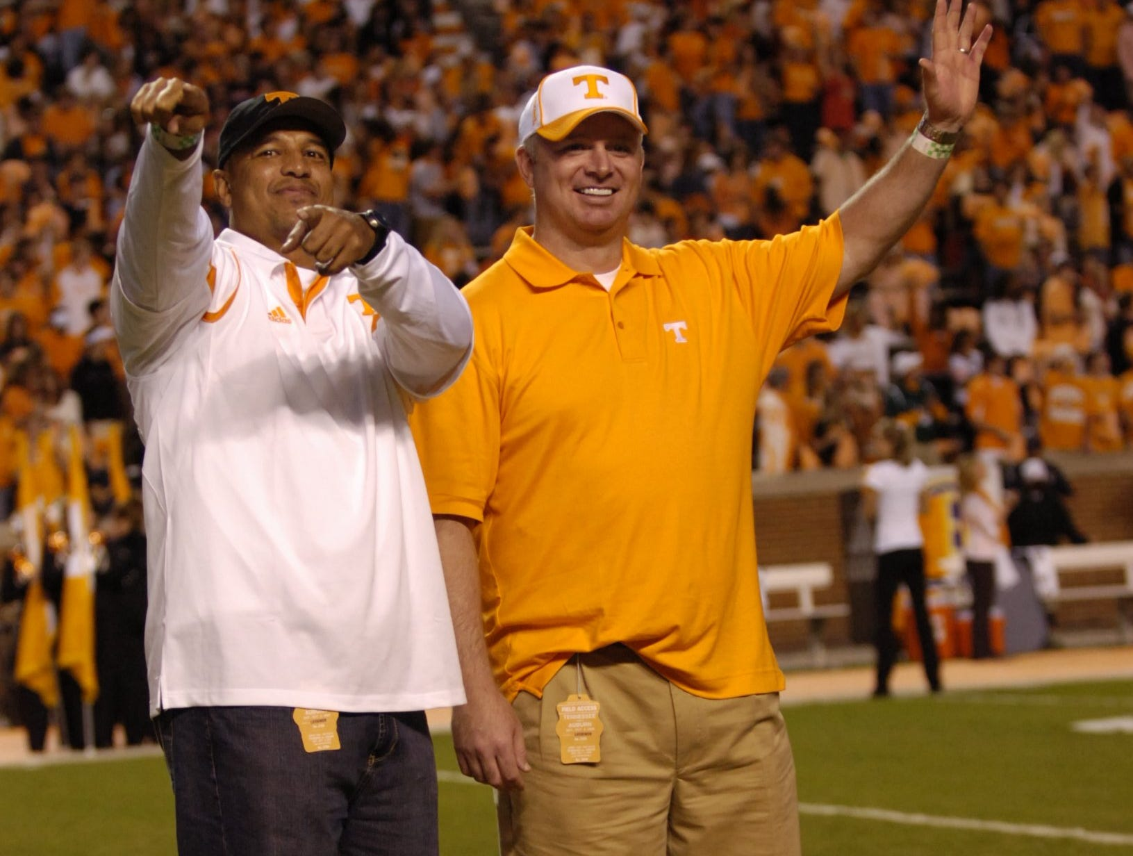 UT legends of the game, former players Carl Pickens and Andy Kelly were recognized before the game on Saturday, October 3rd, 2009 at Neyland Stadium.