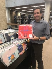 Van Walker,manager of the sights and sounds department at Lawson McGhee Library. Walker developed the library's new collection of vinyl records.