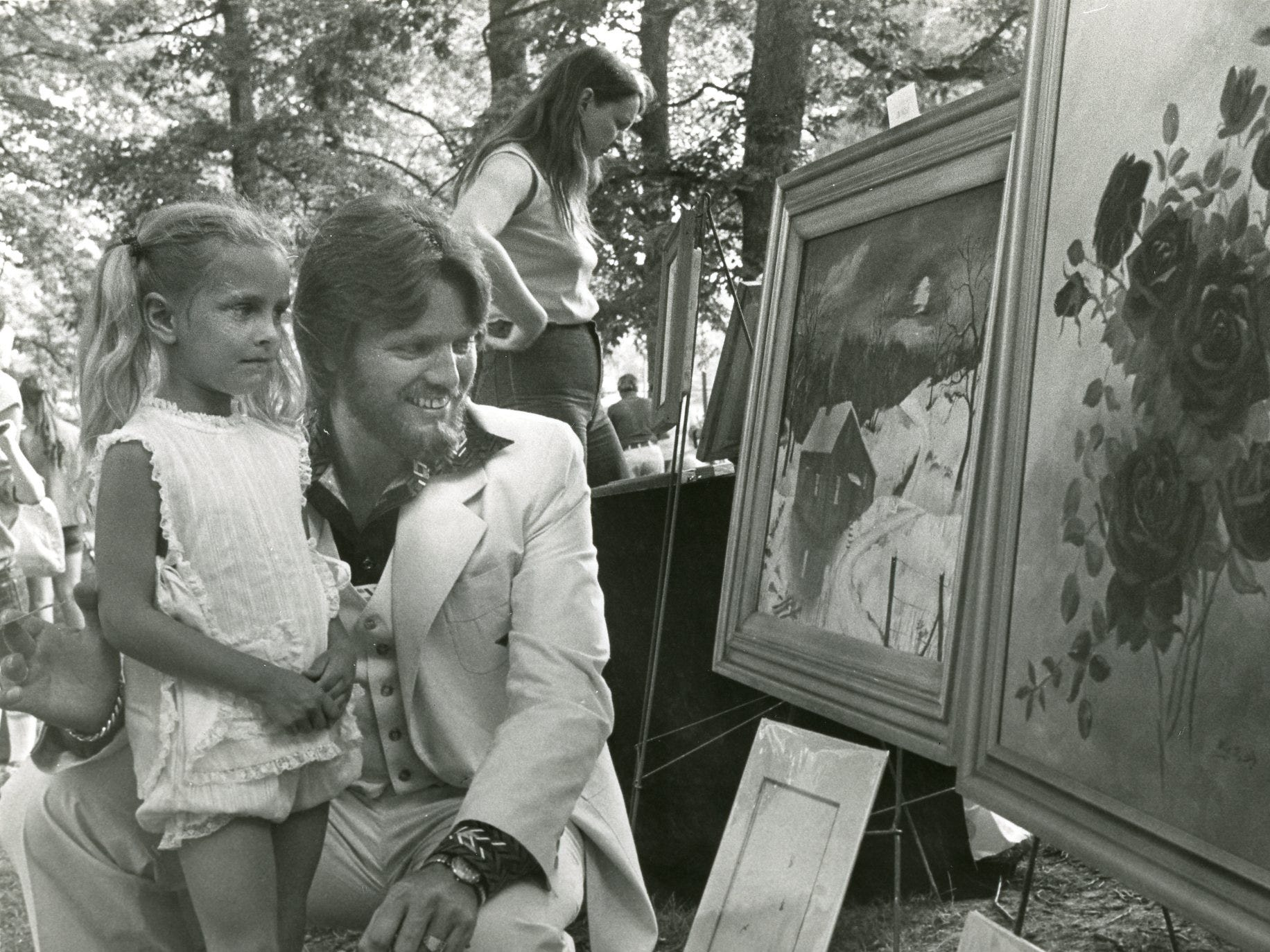Kelly Wayland and Con Hunley in a photo from a Day in the Park, May, 1977. Hunley was among hundreds of Fountain City residents to spend a day in Fountain City Park for the fourth annual Honor Fountain City Day.