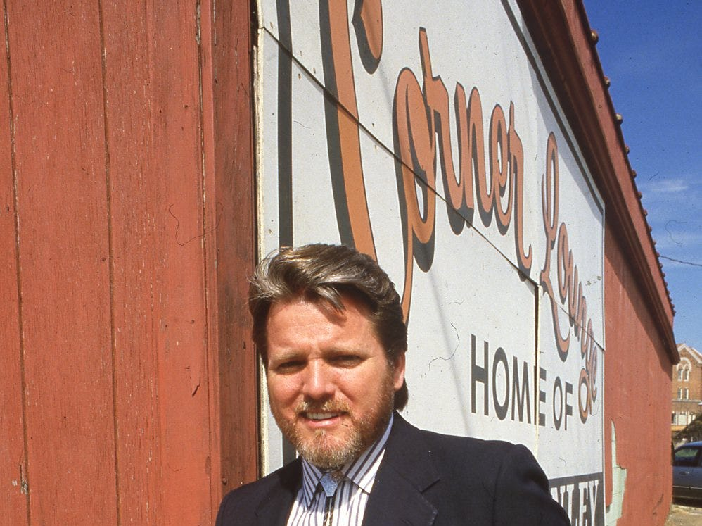 Con Hunley's career began at the Corner Lounge on Central Avenue. June, 1986.