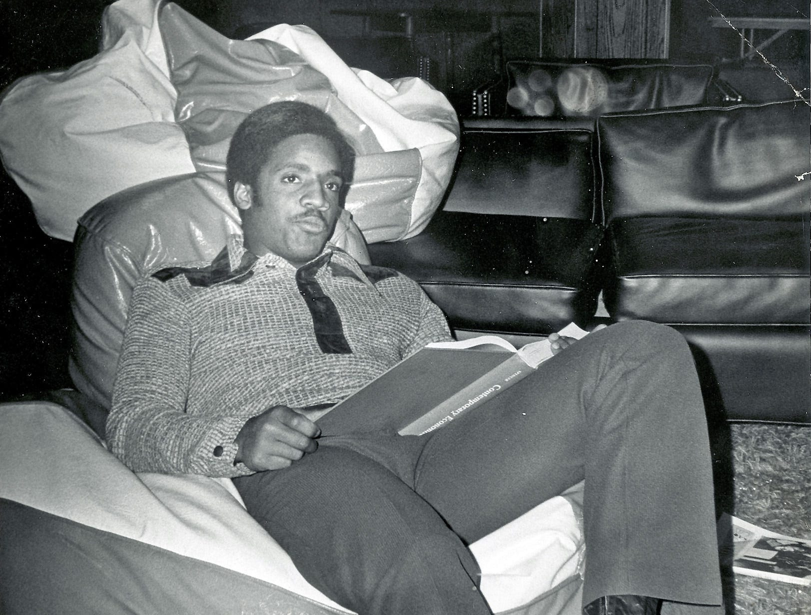 University of Tennessee quarterback Condredge Holloway relaxes in this Knoxville News Sentinel file photo taken by Jack Kirkland on Dec. 4, 1972.