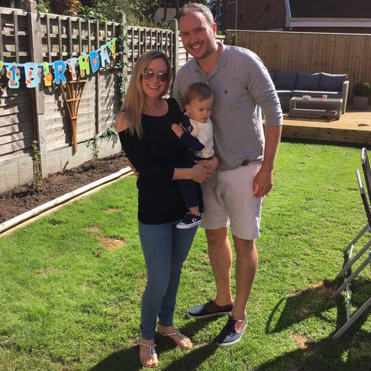 Rachael Bland, pictured with her son and husband, died from breast cancer in September. (Photo: COURTESY OF THE FAMILY)