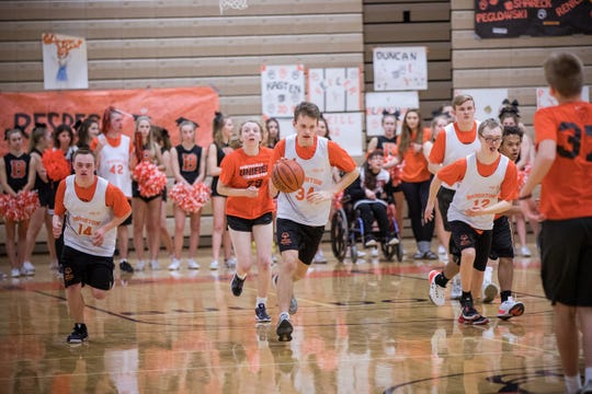 Brighton's unified sports program, combining special education and general education students, began two years ago with basketball.