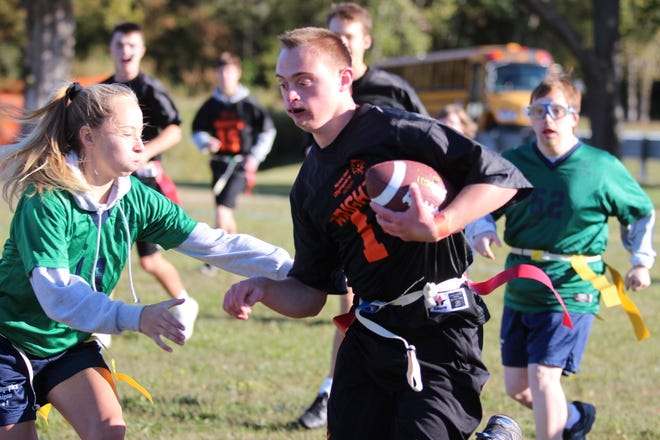 Flag football is one of three sports available for students in the Brighton unified sports program, which is receiving national recognition from ESPN and Special Olympics.