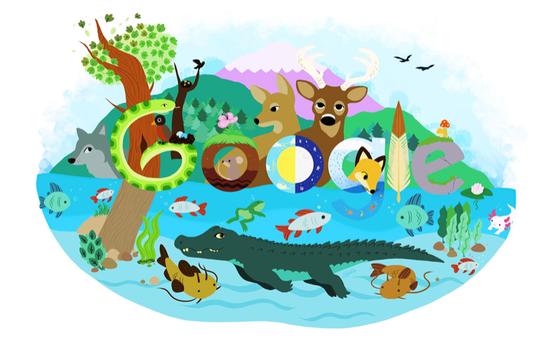 North Oldham High School's Em Mejias' Doodle 4 Google design.