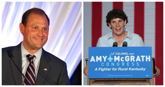 Andy Barr and Amy McGrath