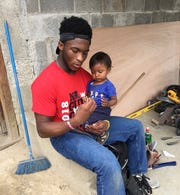 Koran Givens, a football player, cheerleader and pole valuter at New Albany, went on a church missions trip to Guatemala.