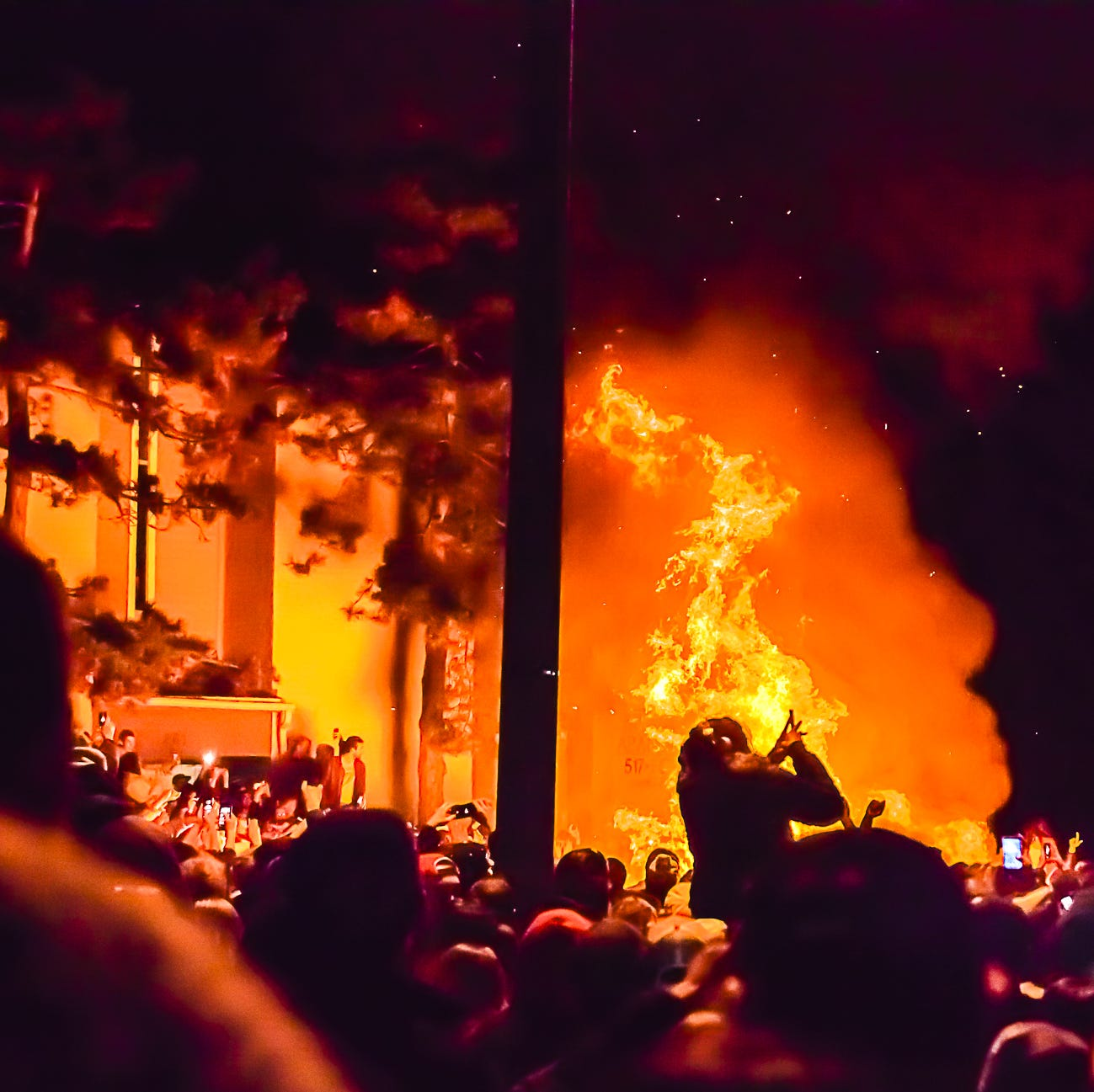MSU couch burning after the Penn State upset was the largest since 2013