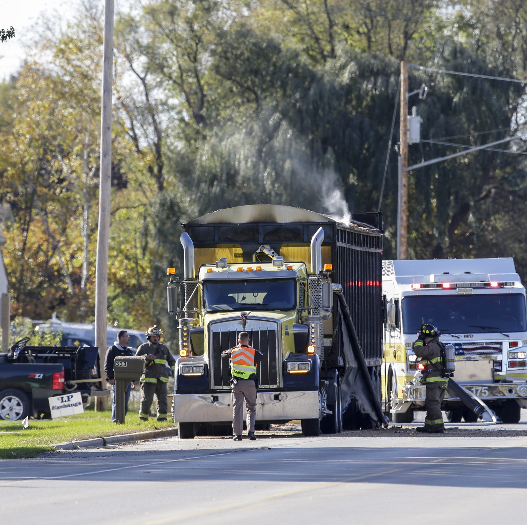 Reedsville semi fire closes Main Street Wednesday afternoon, no one hurt