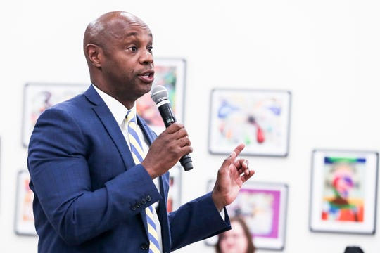 Shelby County Schools Superintendent Dorsey Hopson speaks during a rally in October.