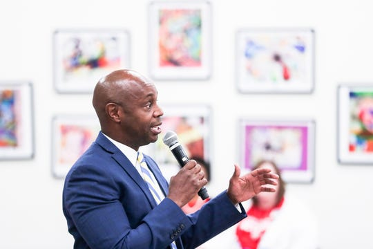 October 16 2018 - Shelby County Schools Superintendent Dorsey Hopson speaks during a rally held by the United Education Association at the Shelby County Schools headquarters on Tuesday.