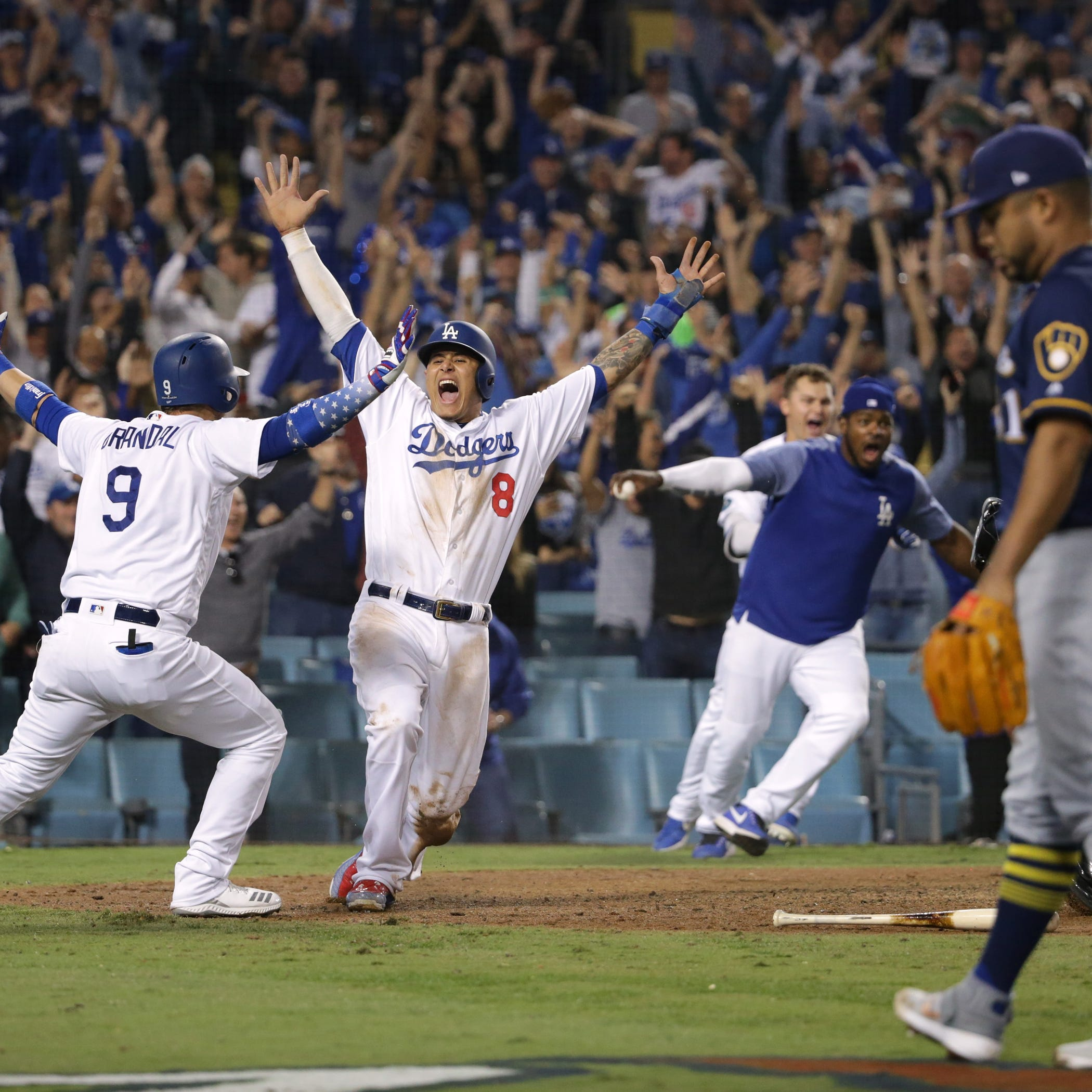 Dodgers 2, Brewers 1 (13 innings): NLCS tied after Game 4 marathon