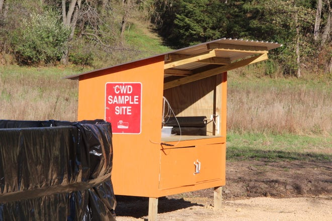 A chronic wasting disease sample kiosk and lined dumpster are located near Cazenovia in Richland County. The facility is the first in Wisconsin to be sited under the Adopt a Kiosk and Adopt a Dumpster program organized by the Department of Natural Resources. The Duren Family Farm and Hunt to Eat partnered to fund and adopt the kiosk and dumpster.