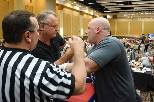 Steve Southworth (left) founded Wisconsin Arm Wrestling.