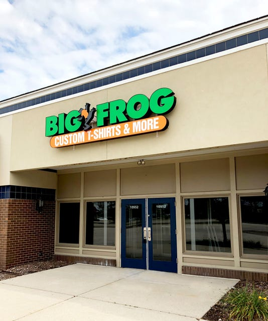 403164fff Big Frog Custom T-Shirts & More plans to open Oct. 31 in the Mequon  Pavilions shopping center. (Photo: Submitted)