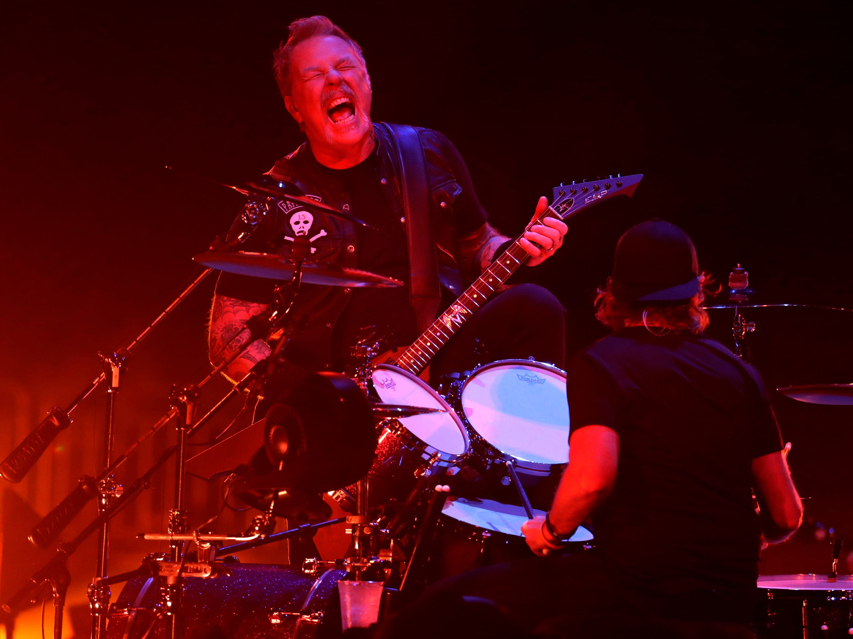 Metallica performs a sold-out show at Fiserv Forum in Milwaukee on Tuesday night.