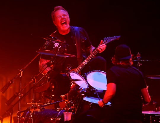 Metallica performs a sold-out show at Fiserv Forum in Milwaukee.