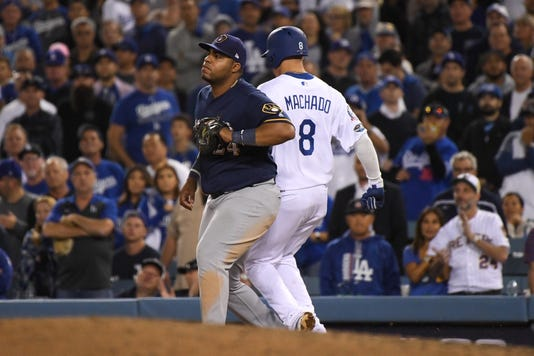 League Championship Series Milwaukee Brewers V Los Angeles Dodgers Game Four