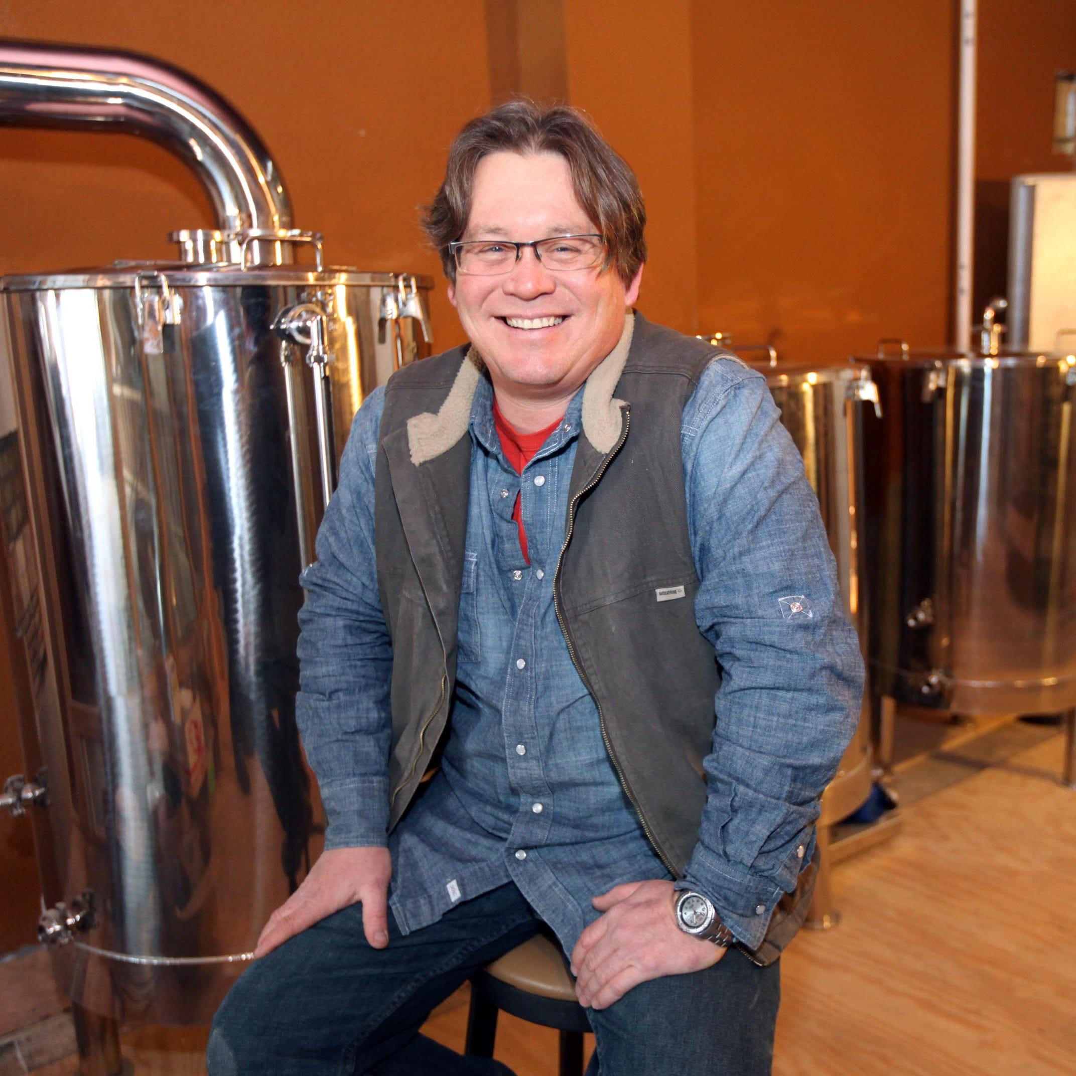 Matt McCulloch, owner of  District 14 Brewery, at...