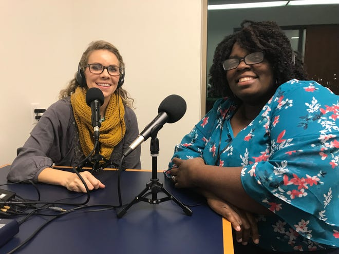 Bridge the Divide organizers Heidi Wheeler, left, and Erica Turner host podcasts, speakers and other events that aim to start a conversation about diversity in Ozaukee County.