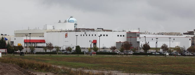 The Patrick Cudahy meat processing plant just a few blocks directly east of General Mitchell International Airport, shown here in 2013.