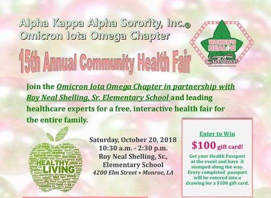 Community Health Fair is Saturday.