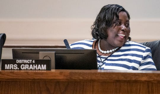 Audrey Graham after being sworn in as Montgomery's newest city council member at city hall on Tuesday night October 16, 2018.