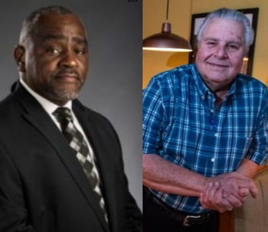 Democratic challenger Rayford Mack, left and Republican incumbent Dimitri Polizos, right, are both running for Alabama's State House District 74