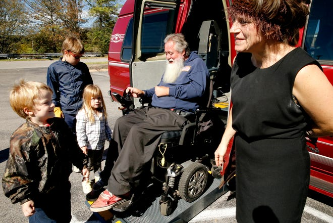 The Caldwell family of Murfreesboro was given a handicap-accessible van on Wednesday, Oct. 17, 2018, by Greenhouse Ministries.
