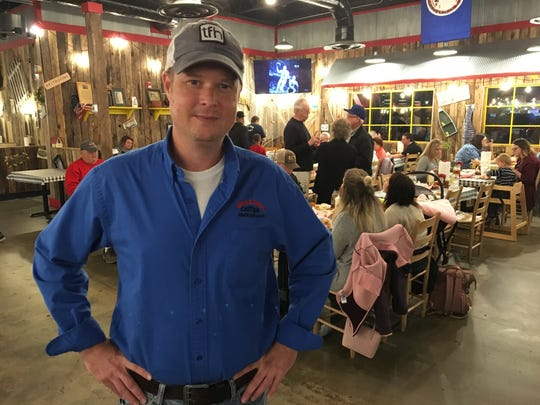 General Manager Brian Sanders stands in the dining room of Uncle Bud's in Murfreesboro, which opened in the fall.