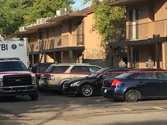 The Tennessee Bureau of Investigation was on the scene of a police shooting at the Eden at Watersedge apartments Wednesday, Oct. 17, 2018.