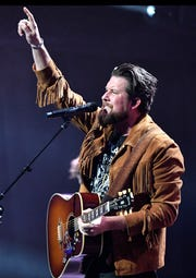 Zach Williams performs at the 49th Annual GMA Dove Awards at Allen Arena on Oct. 16 in Nashville.