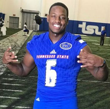 Tennessee State linebacker Christion Abercrombie, who sustained a brain injury on Sept. 29 in a game against Vanderbilt, was admitted to the Shepherd Center in Atlanta Wednesday where he will be rehabilitation.