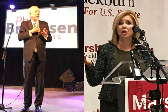 Phil Bredesen and Marsha Blackburn rallied supporters on Oct. 17, 2018, the first day of early voting.