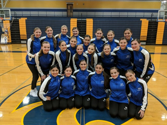 Members of the Wilson Central High School dance team.