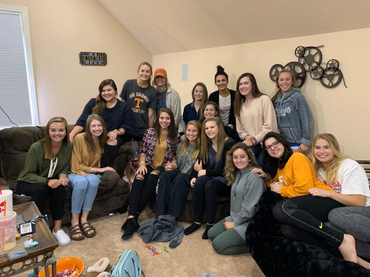 """Some of the Wilson Central High dance team members got together to watch and episode of """"The Ellen DeGeneres Show"""" that featured the squad."""